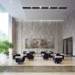 interior of modern entrance hall with Laxerop Premium Byoubu