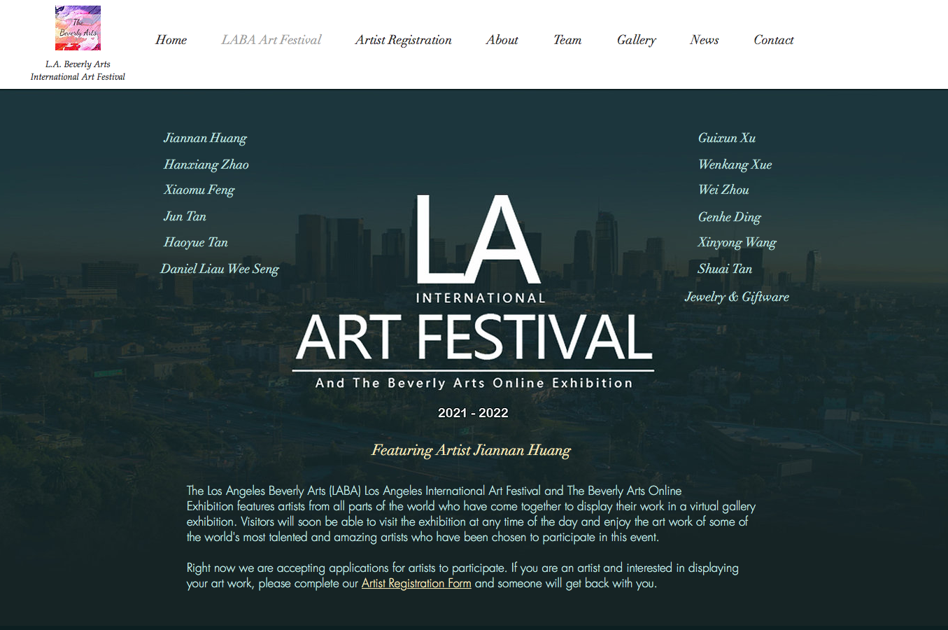 LA International ART FESTIVAL And The Beverly Arts Online Exhibition 2021-2022
